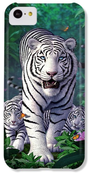 Tiger iPhone 5c Case - White Tigers by Jerry LoFaro