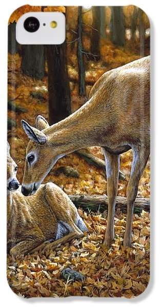 Whitetail Deer - Autumn Innocence 2 IPhone 5c Case by Crista Forest