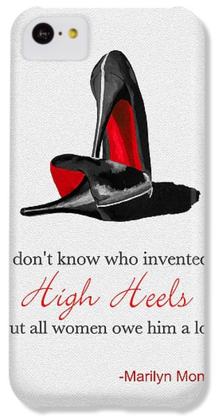 Marilyn Monroe iPhone 5c Case - Who Invented High Heels? by Rebecca Jenkins