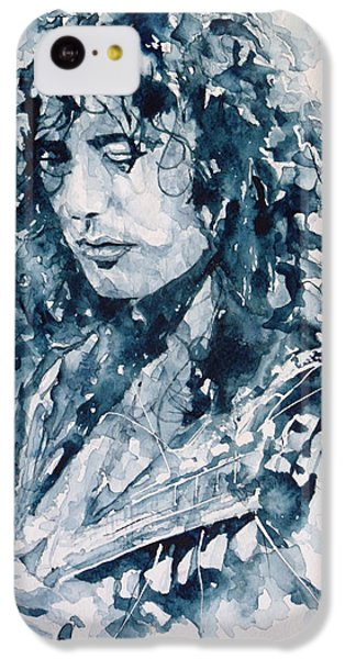 Musicians iPhone 5c Case - Whole Lotta Love Jimmy Page by Paul Lovering