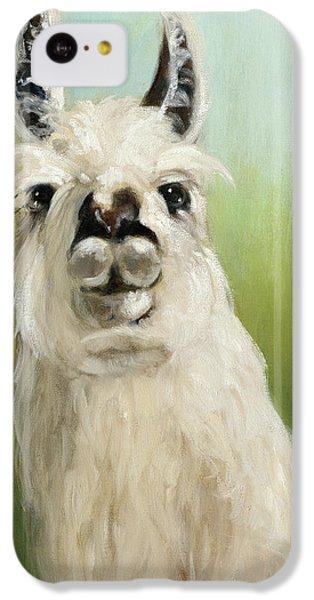 Llama iPhone 5c Case - Whos Your Llama I by Julia Purinton