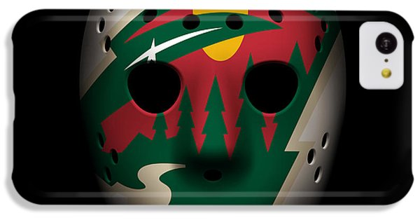 Wild Goalie Mask IPhone 5c Case by Joe Hamilton