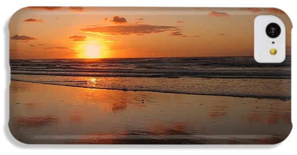 Wildwood Beach Sunrise IPhone 5c Case by David Dehner