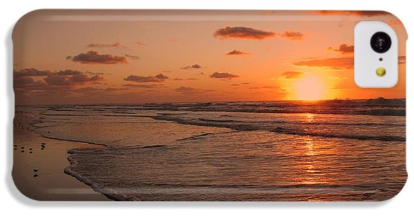 Wildwood Beach Sunrise II IPhone 5c Case by David Dehner