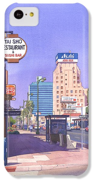 Beverly Hills iPhone 5c Case - Wilshire Blvd At Mansfield by Mary Helmreich