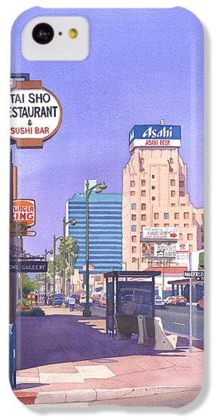 Wilshire Blvd At Mansfield IPhone 5c Case by Mary Helmreich