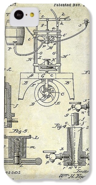 1890 Wine Bottling Machine IPhone 5c Case