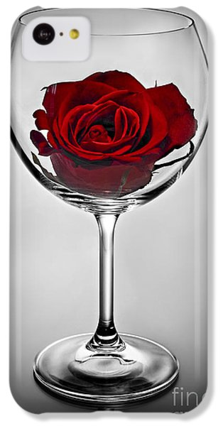 Wine Glass With Rose IPhone 5c Case