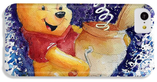 The iPhone 5c Case - Winnie The Pooh And Honey Pot by Andrew Fling