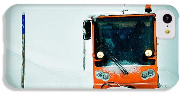 Orange iPhone 5c Case - Winter Road Clearance by Matthias Hauser