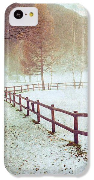 Winter Tree With Fence IPhone 5c Case by Silvia Ganora