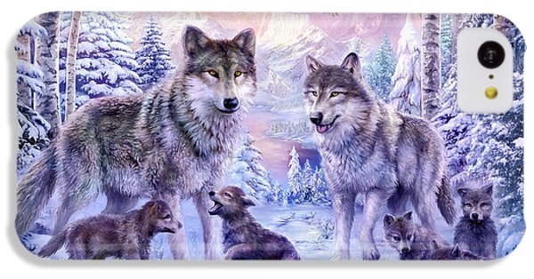 Winter Wolf Family  IPhone 5c Case