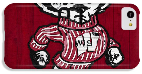 Wisconsin Badgers College Sports Team Retro Vintage Recycled License Plate Art IPhone 5c Case by Design Turnpike