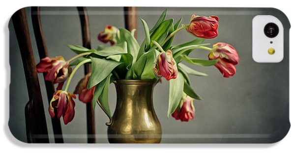 Tulip iPhone 5c Case - Withered Tulips by Nailia Schwarz