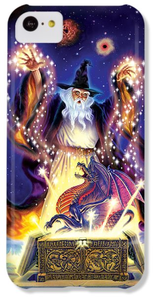 Wizard Dragon Spell IPhone 5c Case by Andrew Farley