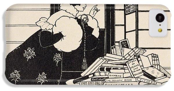 Woman In A Bookshop IPhone 5c Case by Aubrey Beardsley