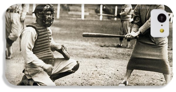 Woman Tennis Star At Bat IPhone 5c Case by Underwood Archives