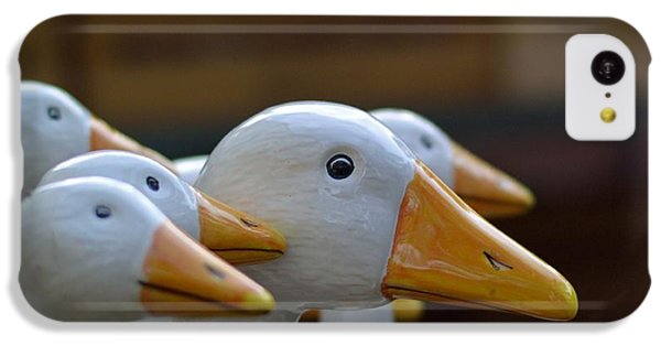 Decorative iPhone 5c Case - Wooden Geese by Bunny My Yummy