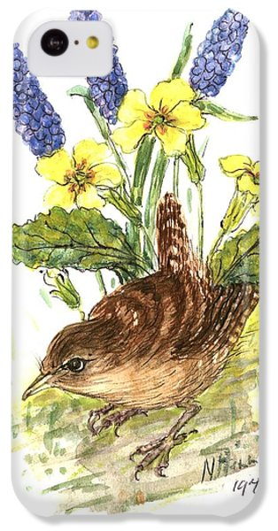 Wren In Primroses  IPhone 5c Case