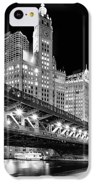 Wrigley Building At Night In Black And White IPhone 5c Case