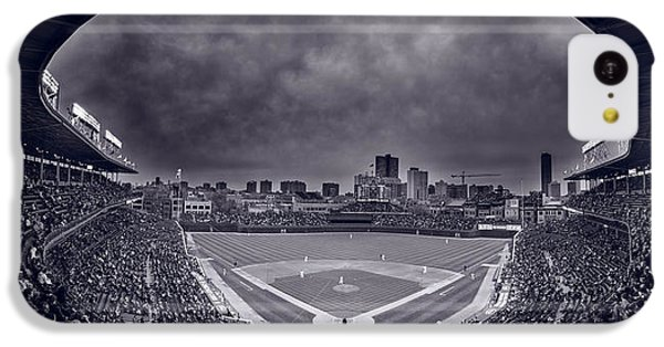 Wrigley Field Night Game Chicago Bw IPhone 5c Case by Steve Gadomski