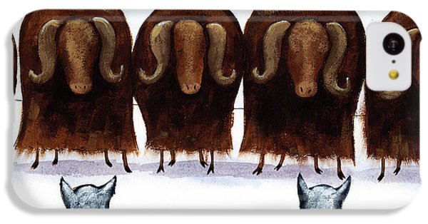Yak Line IPhone 5c Case by Christy Beckwith