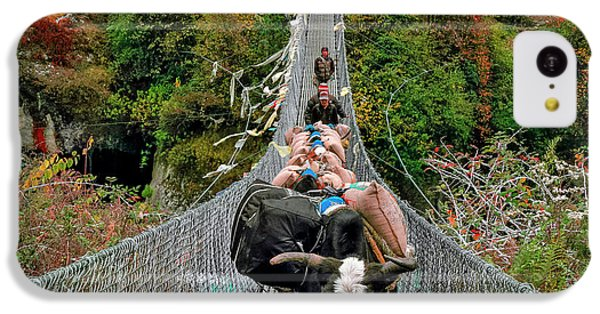 Yaks On Rope Bridge IPhone 5c Case