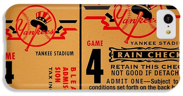 Yankees 4th Straight - Vintage IPhone 5c Case by Benjamin Yeager