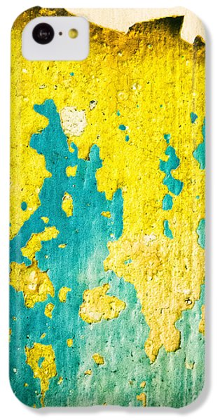 IPhone 5c Case featuring the photograph Yellow And Green Abstract Wall by Silvia Ganora