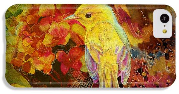 Parakeet iPhone 5c Case - Yellow Bird by Catf