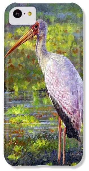Stork iPhone 5c Case - Yelow-billed Stork by David Stribbling