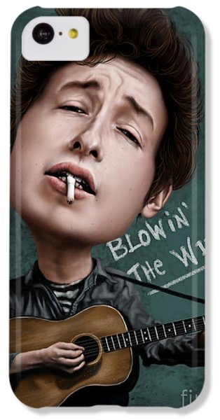 Young Bob Dylan IPhone 5c Case by Andre Koekemoer