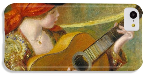 Guitar iPhone 5c Case - Young Spanish Woman With A Guitar by Pierre Auguste Renoir