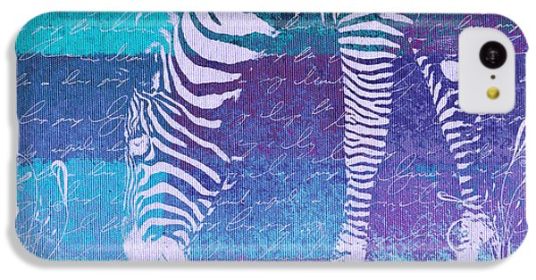 Zebra Art - Bp02t01 IPhone 5c Case by Variance Collections