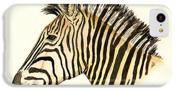 Zebra Head Study IPhone 5c Case