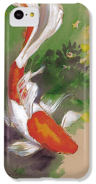 Koi iPhone 5c Case - Zen Comet Goldfish by Tracie Thompson
