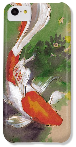 Zen Comet Goldfish IPhone 5c Case by Tracie Thompson