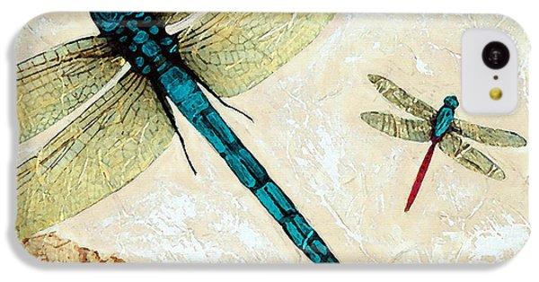 Dragon iPhone 5c Case - Zen Flight - Dragonfly Art By Sharon Cummings by Sharon Cummings