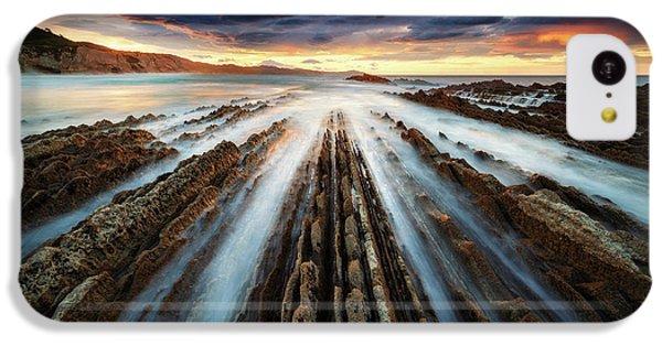 Beach Sunset iPhone 5c Case - Zumaia Flysch by Juan Pablo De