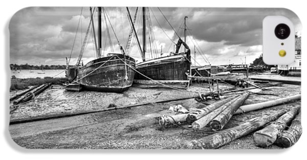 Boats And Logs At Pin Mill  IPhone 5c Case by Gary Eason