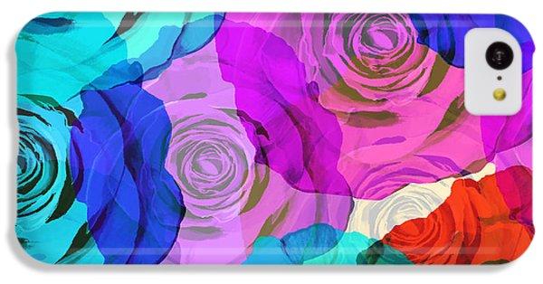 Rose iPhone 5c Case - Colorful Roses Design by Setsiri Silapasuwanchai