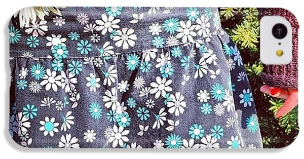 Fashion And Nature - Floral Skirt IPhone 5c Case by Matthias Hauser