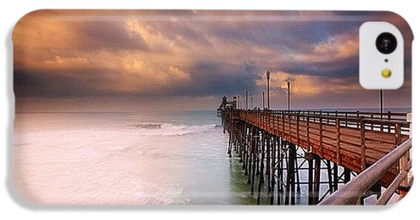 Long Exposure Sunset At The Oceanside IPhone 5c Case by Larry Marshall