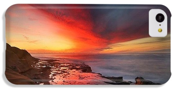 iPhone 5c Case - Long Exposure Sunset In La Jolla by Larry Marshall