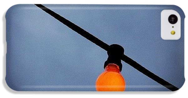 iPhone 5c Case - Orange Light Bulb by Matthias Hauser