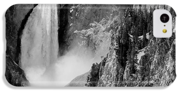 Yellowstone Waterfalls In Black And White IPhone 5c Case