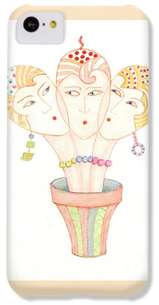 IPhone 5c Case featuring the painting Flower Pot Ladies by Nareeta Martin