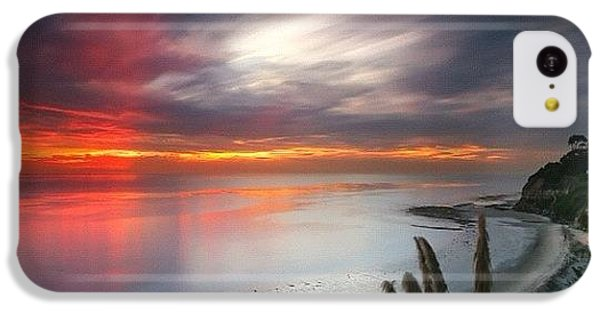 iPhone 5c Case - Long Exposure Sunset At A North San by Larry Marshall