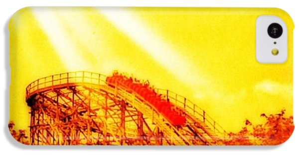 iPhone 5c Case - #amazing Shot Of A #rollercoaster At by Pete Michaud