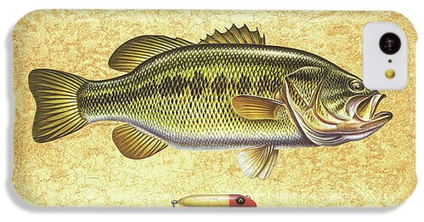 Smallmouth Bass iPhone 5c Case - Antique Lure And Bass by JQ Licensing